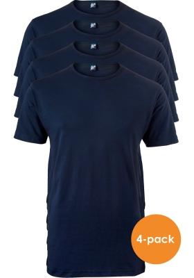 ALAN RED T-shirts Ottawa (4-pack), O-hals stretch, blauw