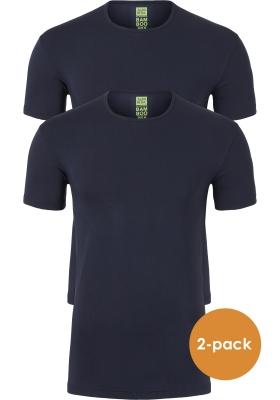 ALAN RED T-shirts Bilbao bamboo (2-pack), O-hals stretch, blauw