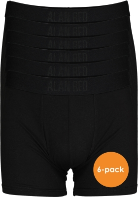 ALAN RED Colin boxers (6-pack), extra lang, zwart