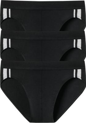 SCHIESSER 95/5 Stretch rio slips (3-pack), zwart