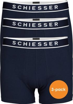 SCHIESSER 95/5 shorts (3-pack), donkerblauw