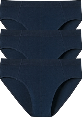 SCHIESSER 95/5 Essentials supermini slips (3-pack), donkerblauw