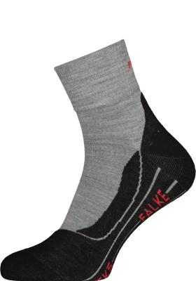 FALKE TK5 Short heren wandelsokken, licht grijs (light grey)