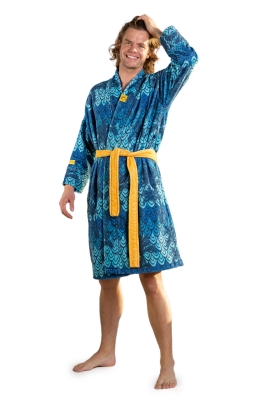 Crazy Comfort Out Of Office unisex badjas, oceaan blauw