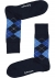 Burlington Everyday herensokken (2-pack), katoen, marine blauw en geruit