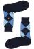 Burlington Queen damessokken, katoen,  marine blauw met lichter blauw