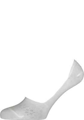 Burlington Everyday dames invisible sokken (2-pack), katoen, wit