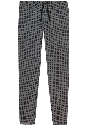 SCHIESSER Mix+Relax lounge broek, lange pijpen zonder boord, dun, zwart geruit