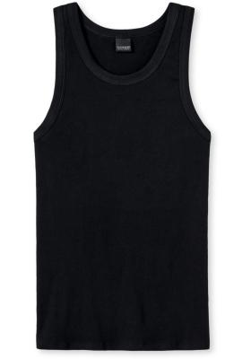 SCHIESSER Retro Rib singlet (1-pack), dubbelrib, zwart