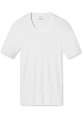 SCHIESSER Essentials T-shirt (1-pack), Feinribb met O-hals, wit
