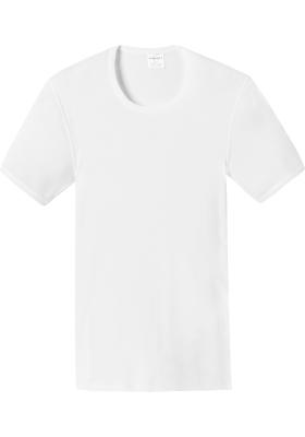 SCHIESSER Essentials T-shirt (1-pack), Doppelribb met O-hals, wit