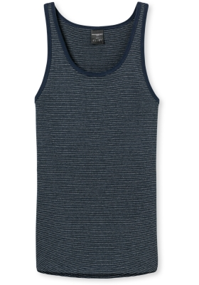 SCHIESSER Original Feinribb singlet (1-pack), donkerblauw melange