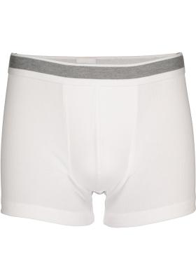 SCHIESSER Retro Rib short (1-pack), elastische dubbelrib, wit