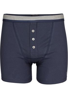 SCHIESSER Retro Rib short (1-pack), elastische dubbelrib, blauw