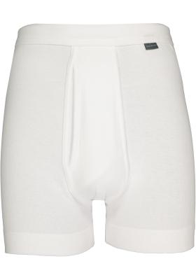 SCHIESSER Cotton Essentials lange short (1-pack), Feinripp met gulp, wit