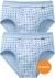 SCHIESSER Cotton Essentials sportslips (2-pack), Feinribb met gulp, lichtblauw geblokt