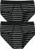 SCHIESSER Original Classics sportslips (2-pack), Feinripp met gulp, zwart gestreept