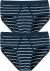 SCHIESSER Original Classics sportslips (2-pack), Feinripp met gulp, donkerblauw gestreept