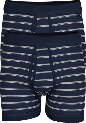 SCHIESSER Original Classics shorts (2-pack), Feinripp met gulp, blauw gestreept
