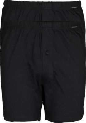 SCHIESSER Cotton Essentials boxershorts wijd (2-pack), tricot, zwart