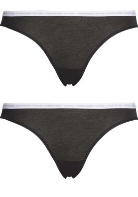 Calvin Klein dames CK ONE Cotton slips (2-pack), zwart