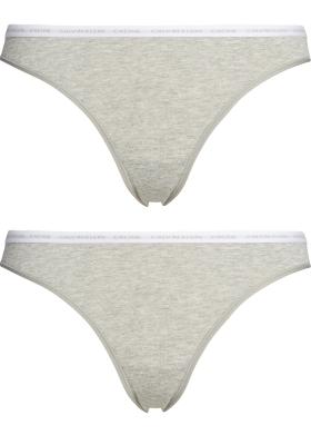 Calvin Klein dames CK ONE Cotton slips (2-pack), grijs melange
