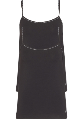Calvin Klein dames ONE Cotton spaghetti tops (2-pack), zwart