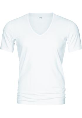 Mey Dry Cotton functional T-shirt (1-pack), heren T-shirt regular fit diepe V-hals, wit
