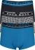 HUGO BOSS trunk (3-pack), heren boxers kort, zwart, kobalt en zwart met wit geruit