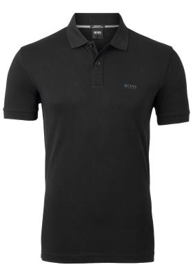 HUGO BOSS Piro regular fit polo, heren polo korte mouw, zwart