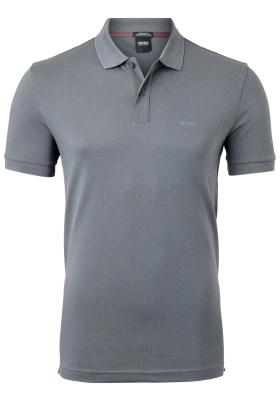 HUGO BOSS Piro regular fit polo, heren polo korte mouw, antraciet grijs