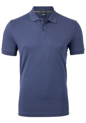 HUGO BOSS Piro regular fit polo, heren polo korte mouw, donkerblauw