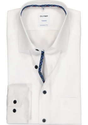 OLYMP Tendenz modern fit overhemd, wit  (contrast)