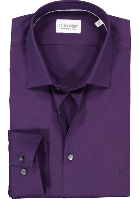 Calvin Klein slim fit overhemd, poplin stretch, Blackberry cordial