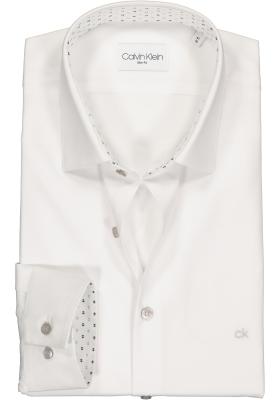 Calvin Klein slim fit overhemd, wit (contrast)