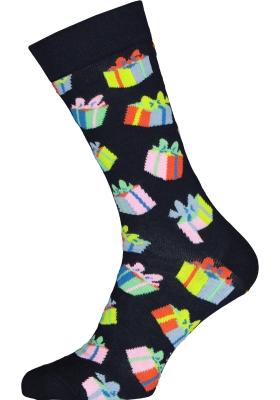 Happy Socks Birthday Gift Sock, unisex sokken, blauw met cadeautjes