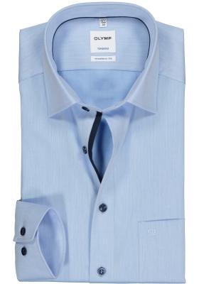 OLYMP Tendenz modern fit overhemd, lichtblauw structuur (contrast)