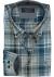 CASA MODA Sport comfort fit overhemd, petrol met wit en blauw twill geruit (contrast)