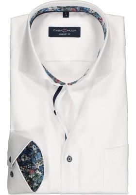 CASA MODA comfort fit overhemd, wit twill (contrast)