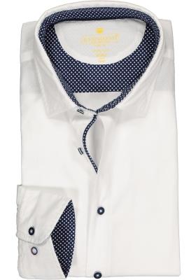 Redmond modern fit overhemd, structuur, wit (contrast)