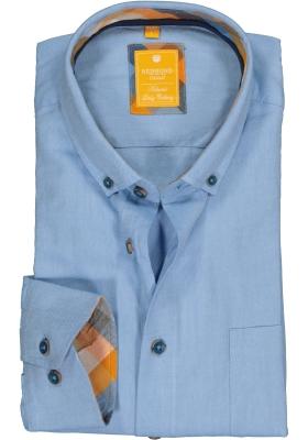 Redmond modern fit overhemd, Oxford, lichtblauw (contrast)
