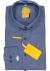 Redmond modern fit overhemd, Oxford, donkerblauw (contrast)