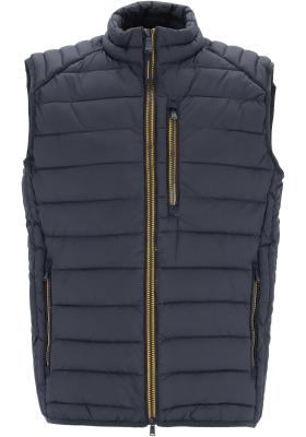 CASA MODA comfort fit bodywarmer (middeldik), donkerblauw met gele ritsen