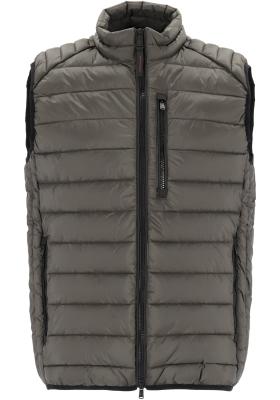 CASA MODA comfort fit bodywarmer (middeldik), groen/grijs