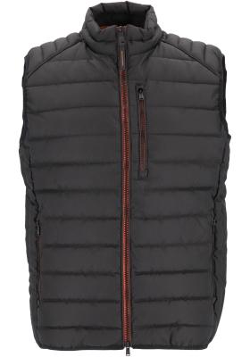 CASA MODA comfort fit bodywarmer (middeldik), zwart met oranje ritsen