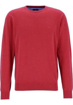 Redmond heren trui katoen, O-hals, rood